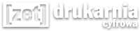 Drukarnia Zet logo białe