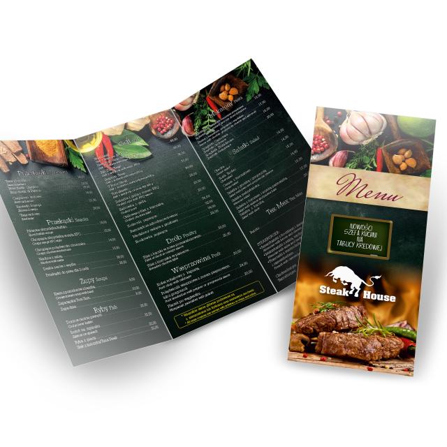 menu ulotka składana